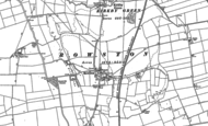 Old Map of Rowston, 1887