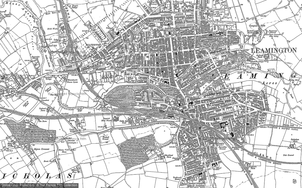Old Map of Royal Leamington Spa, 1886 in 1886