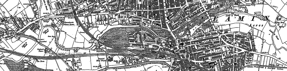 Old map of Leamington Spa in 1886