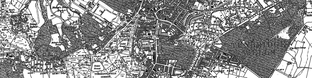 Old map of Tunbridge Wells in 1896