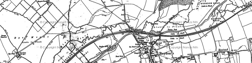Old map of Lightfoots in 1915