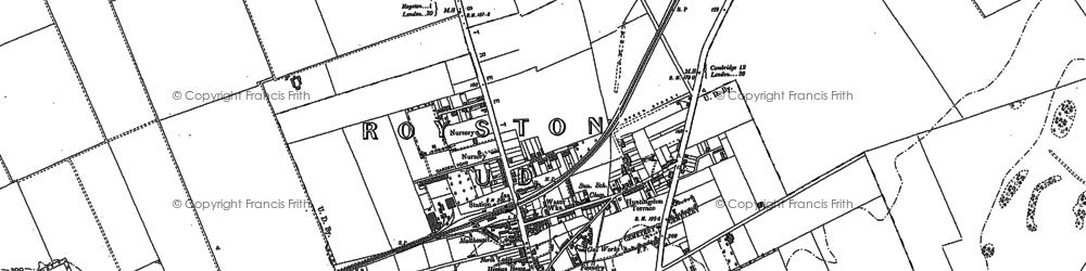 Old map of Whiteley Hill in 1886