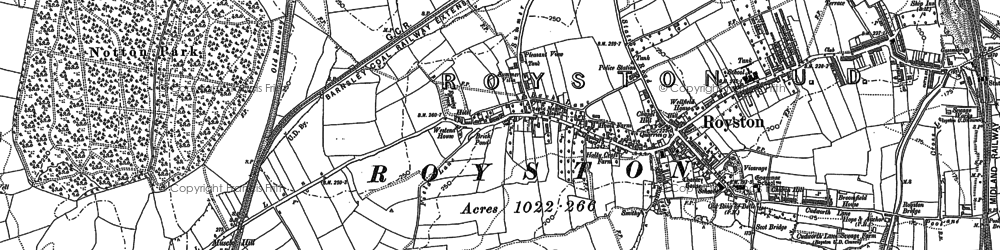 Old map of Royston in 1891