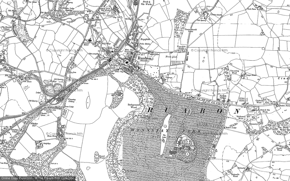 Old Map of Historic Map covering Afon Eitha in 1909