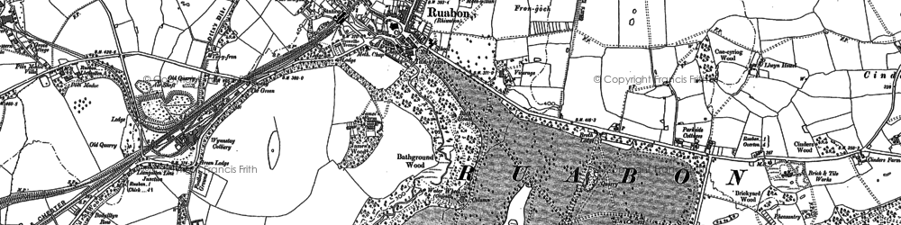 Old map of Ruabon in 1909