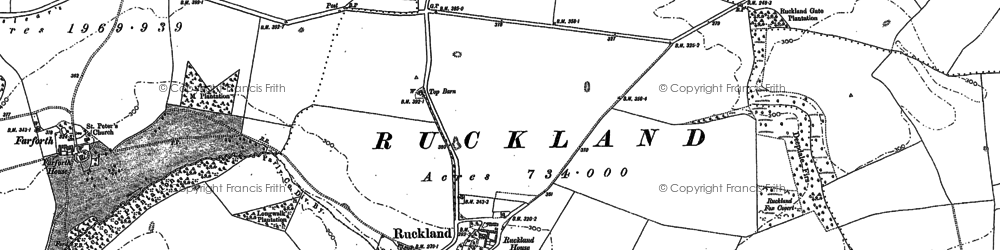 Old map of Woody's Top in 1888