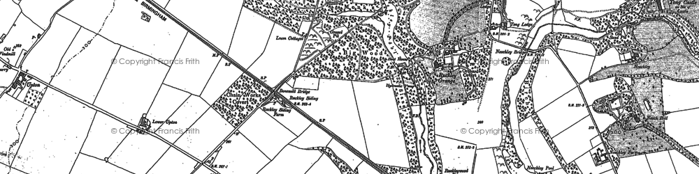 Old map of Tong Lodge in 1881