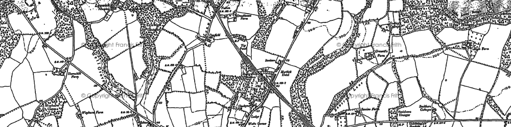 Old map of Rudgwick in 1896