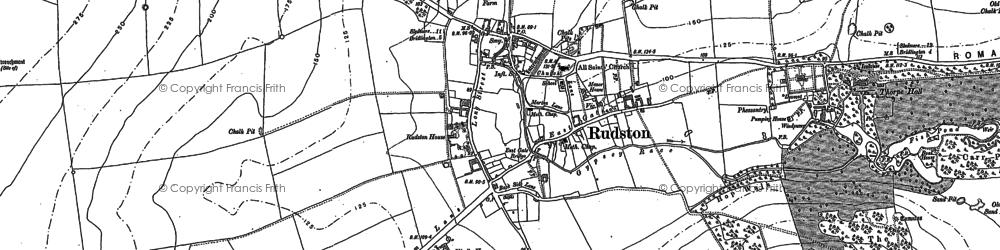 Old map of Rudston in 1888