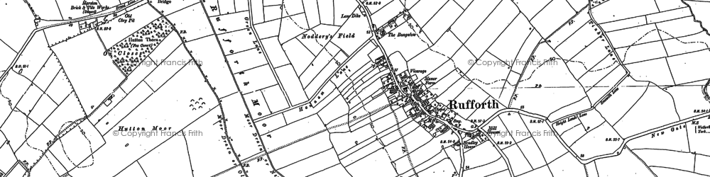 Old map of Rufforth in 1892
