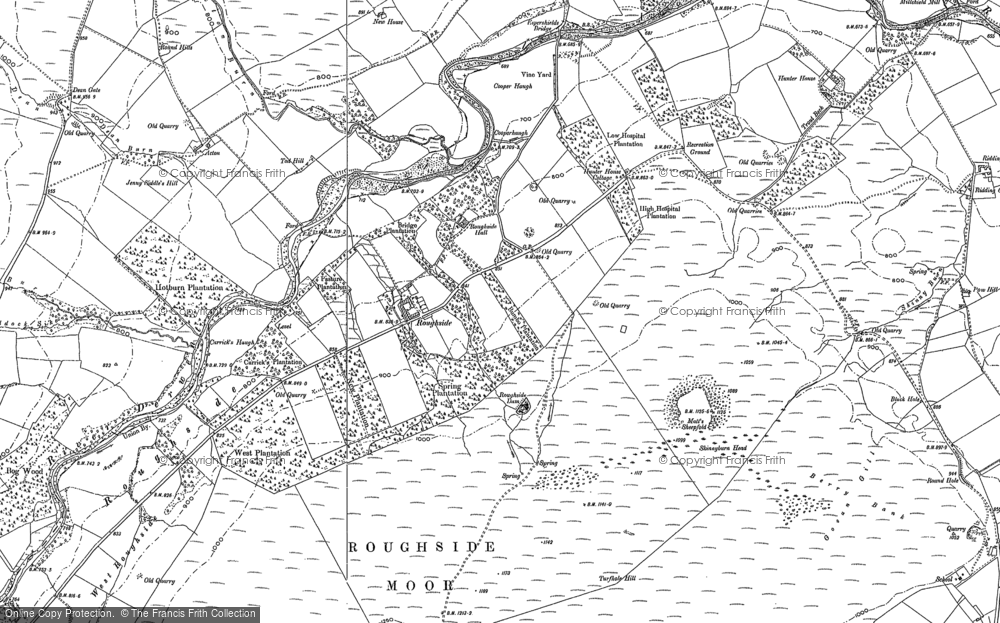 Old Map of Historic Map covering Acton in 1895