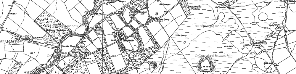 Old map of Winnowshill in 1895