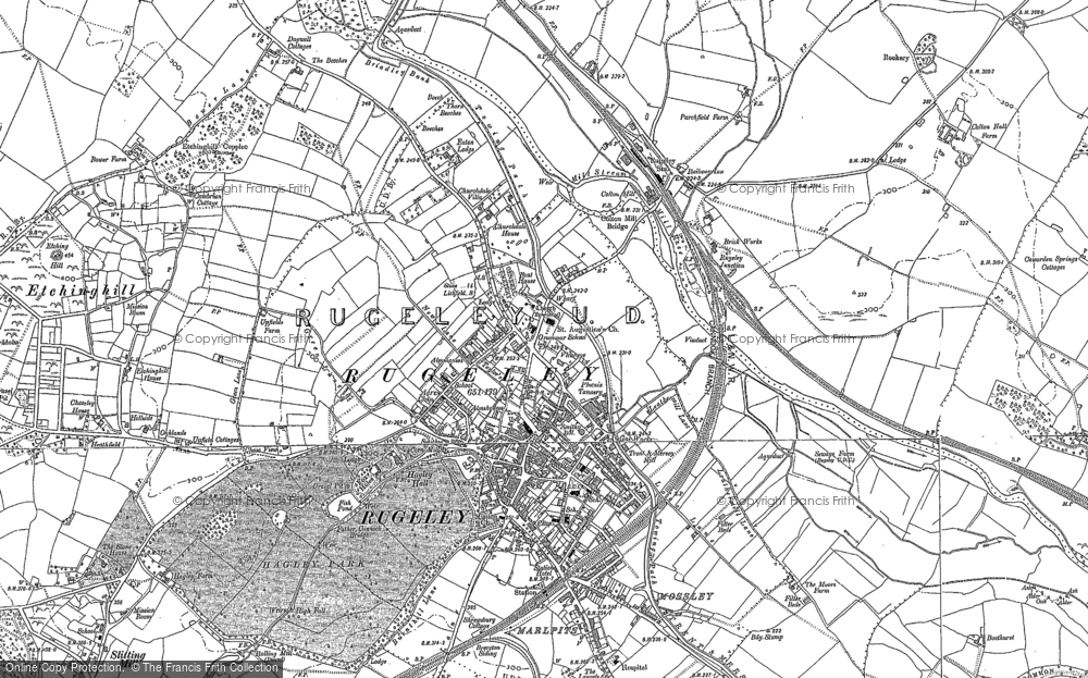 Old Map of Rugeley, 1881 - 1882 in 1881