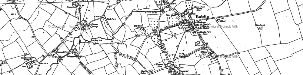 Old map of Ruislip in 1894