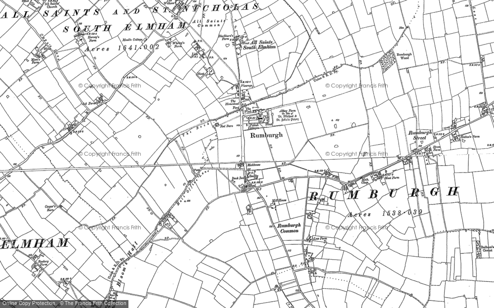 Old Map of Historic Map covering Aldous's Corner in 1883