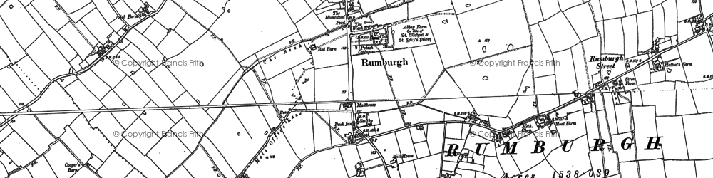 Old map of Aldous's Corner in 1883
