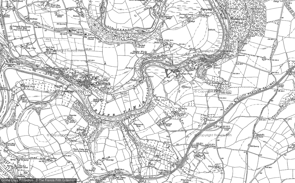 Old Map of Historic Map covering Leigh in 1905