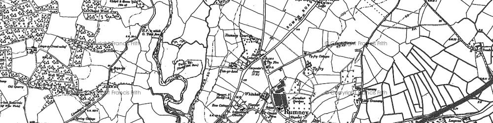 Old map of Rumney in 1899