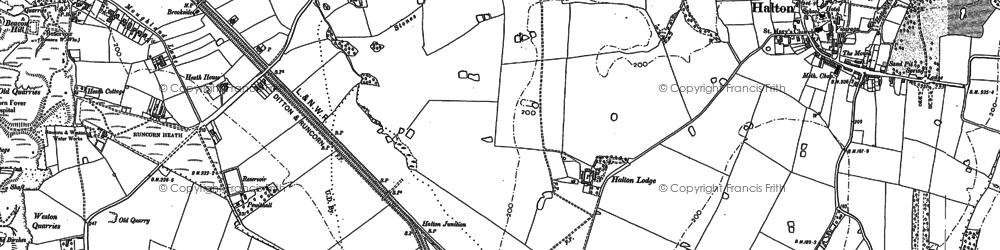Old map of Runcorn in 1908