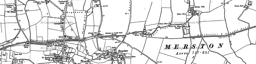 Old map of Woldhurst in 1874