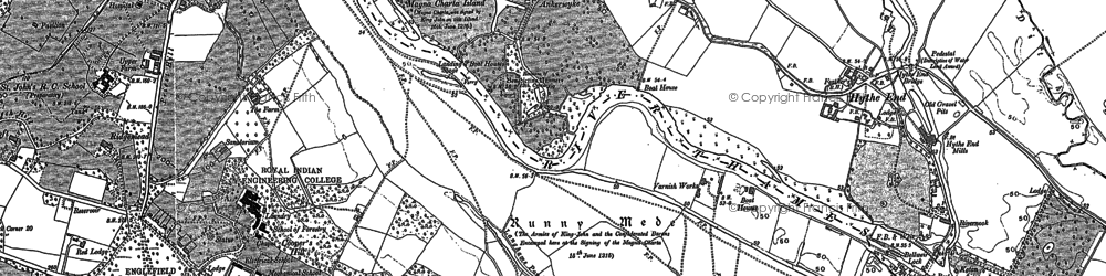 Old map of Runnymede in 1912