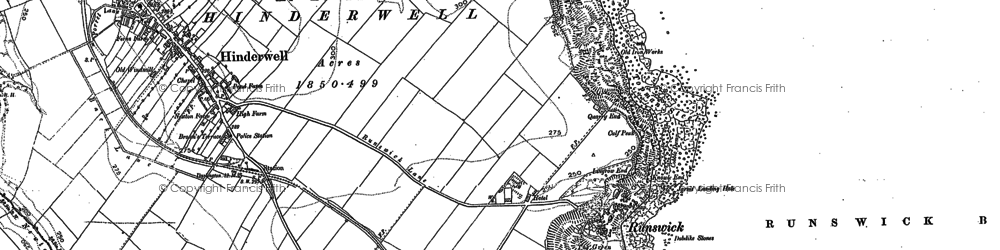 Old map of Runswick Bay in 1913