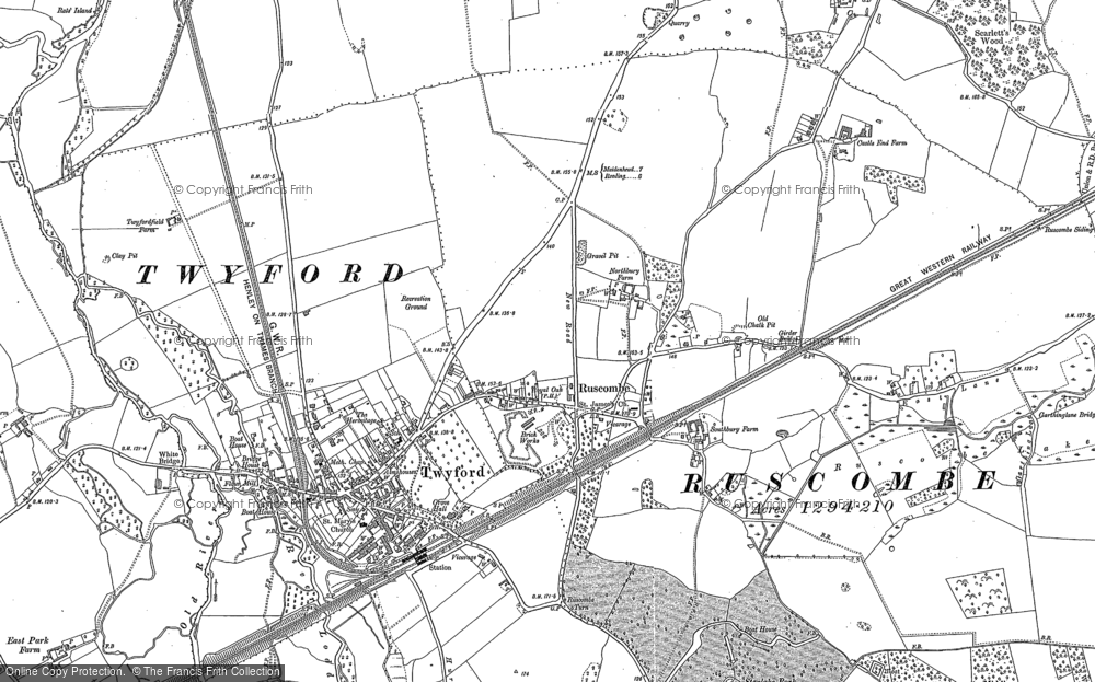 Old Maps of Ruscombe Francis Frith
