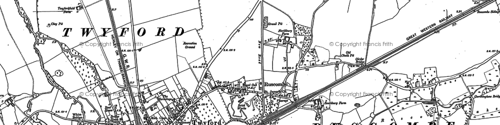 Old map of Ruscombe in 1910