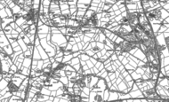 Old Map of Rushall, 1883 - 1885