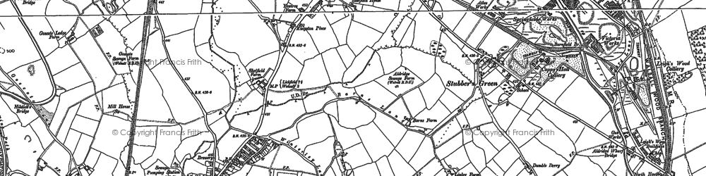 Old map of Rushall in 1883