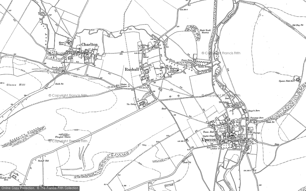 Old Map of Rushall, 1899 in 1899