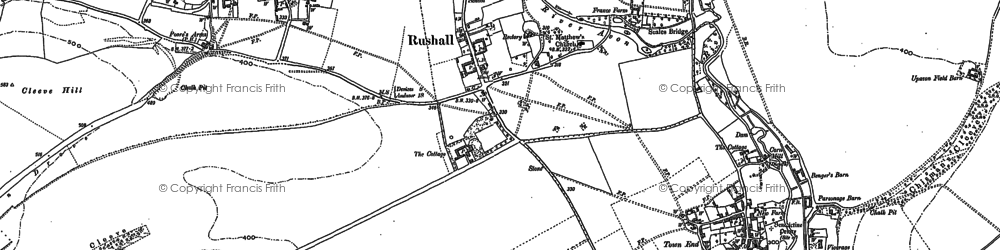 Old map of Rushall in 1899