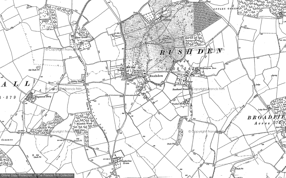 Old Maps Of Rushden Francis Frith - 1896 map of us