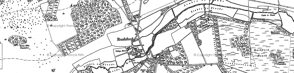Old map of Young Plantn in 1882
