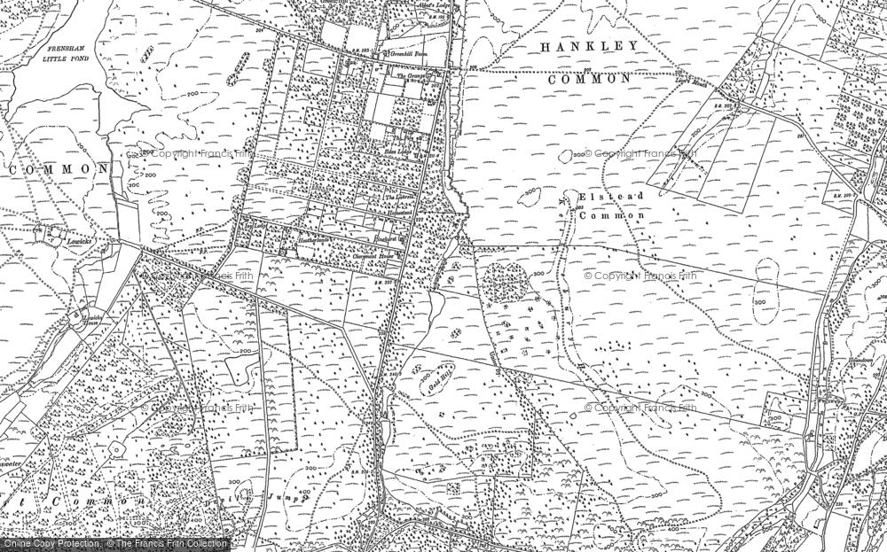 Old Map of Rushmoor, 1913 in 1913