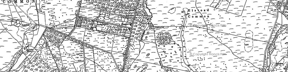 Old map of Rushmoor in 1913