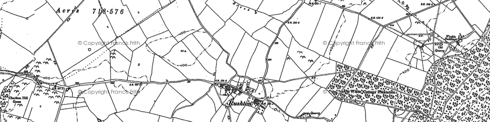 Old map of Woodgreen in 1881