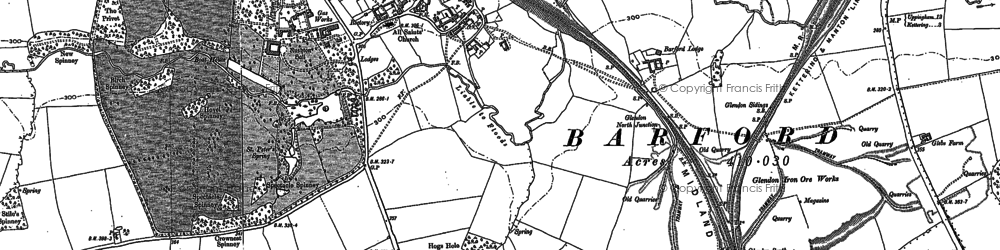 Old map of Barford Br in 1884