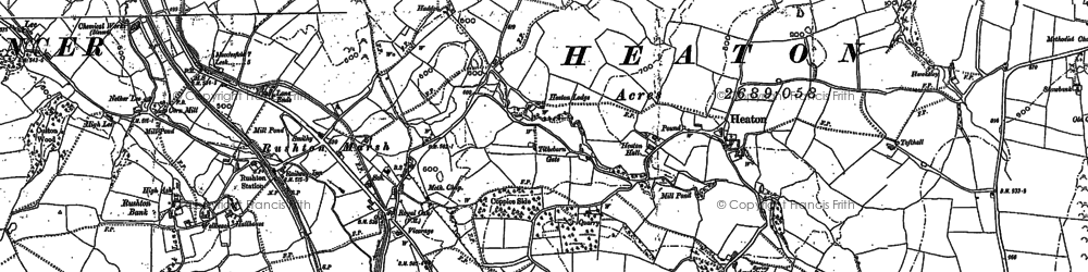 Old map of Wormhill in 1897