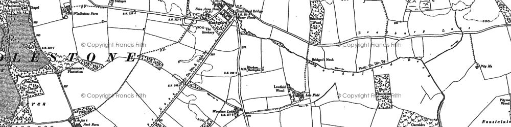 Old map of Rushyford in 1896