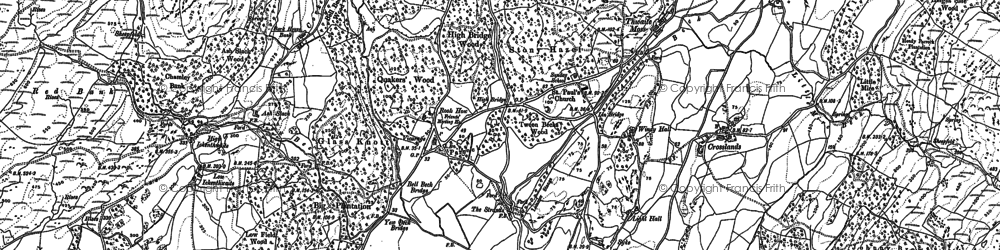 Old map of Ash Slack in 1911