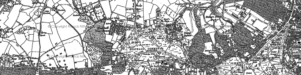 Old map of Ashurst Place in 1896