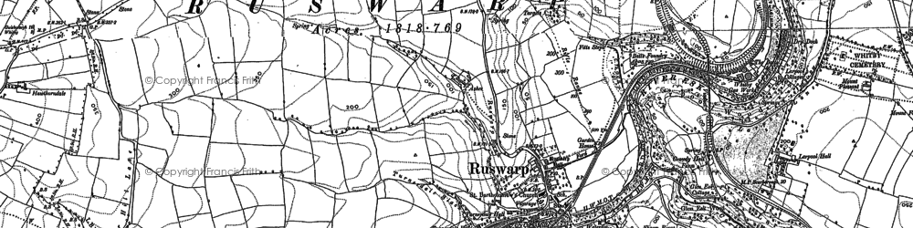 Old map of Ruswarp in 1892