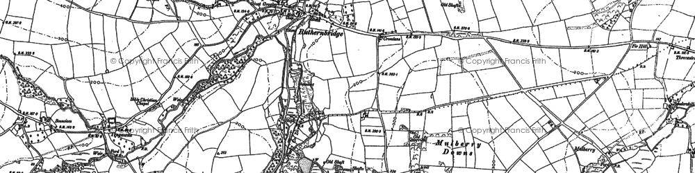 Old map of Ruthernbridge in 1880