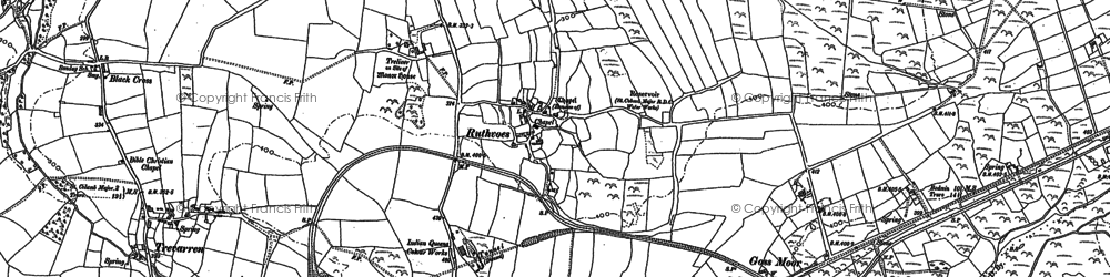 Old map of Ruthvoes in 1880
