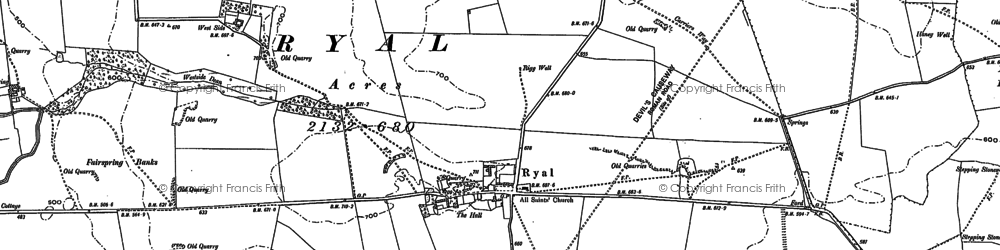 Old map of White Riggs in 1895
