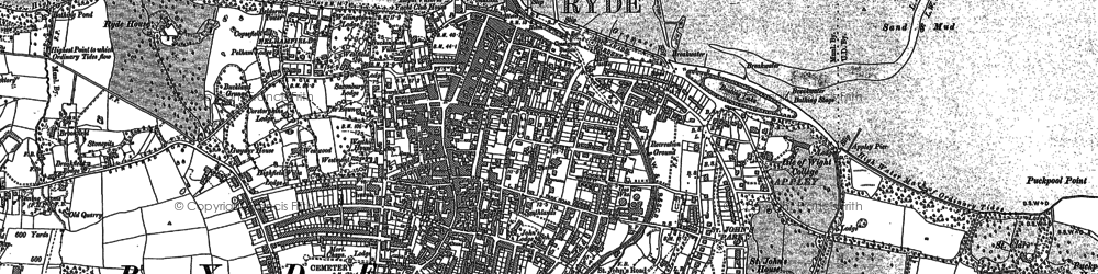 Old map of Ryde in 1907