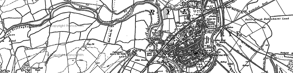 Old map of Ypres Tower in 1907