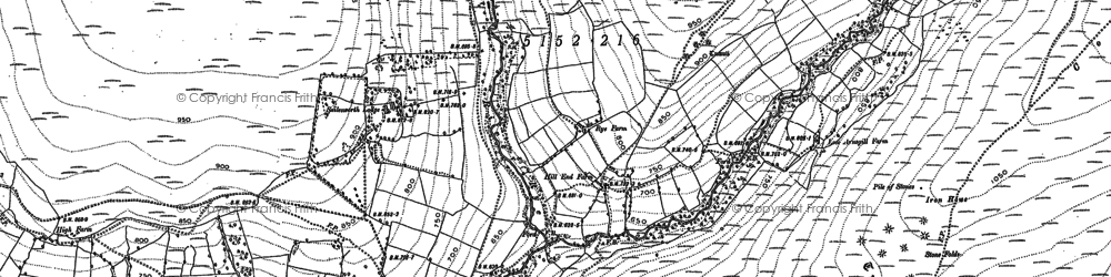 Old map of Wheat Beck in 1890