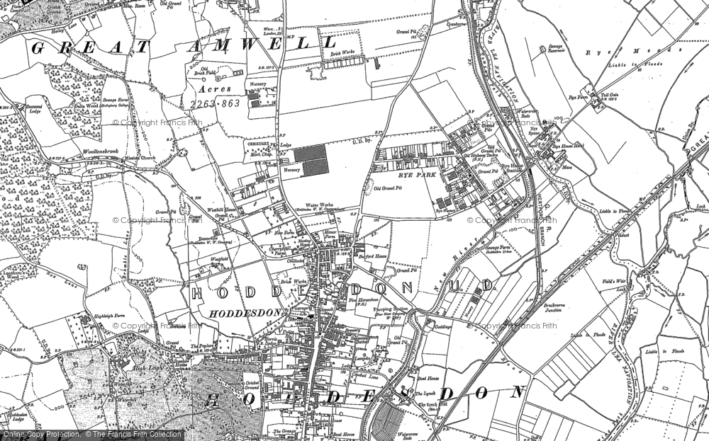 Map Of Rye Map of Rye Park, 1896   1938   Francis Frith Map Of Rye